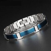Fashion Energy titanium Steel Health Titanium germanium bracelet man