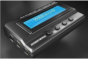 Hobbywing multifunción LCD caja de Programación Integrada w/USB adaptador voltímetro 3/1