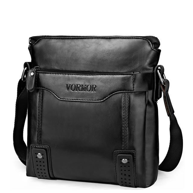 VORMOR Brand Fashion PU Leather Men's Messenger Bags Portfolio Office Men Bag,  Quality Travel Shoulder Bag Handbag for Man