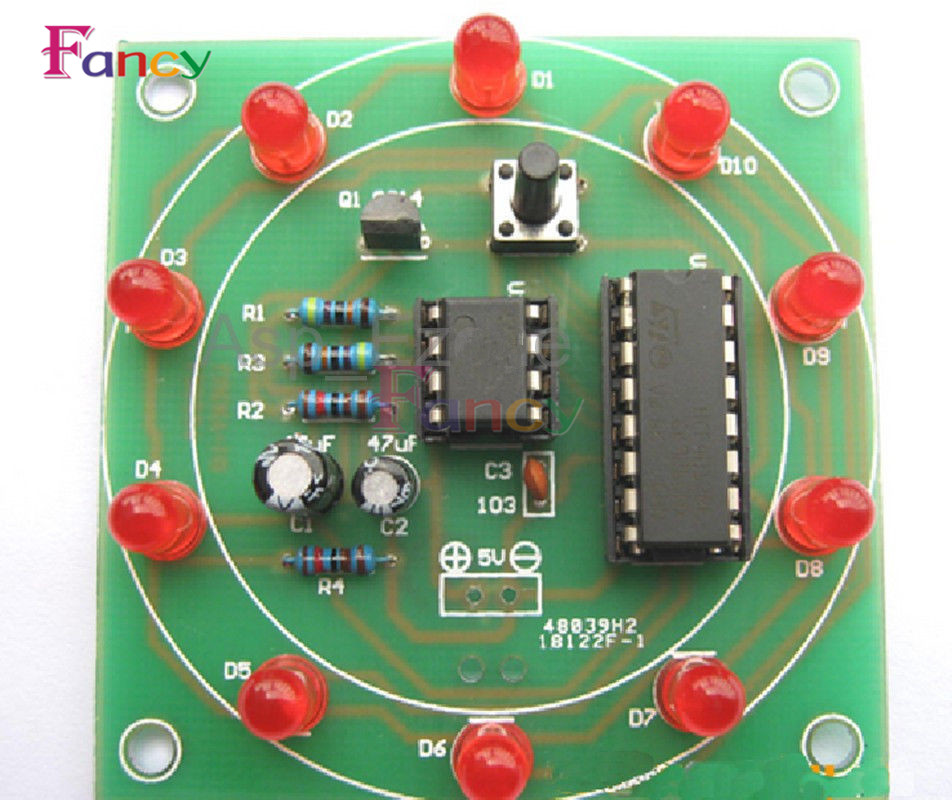 Lucky Rotary Suite Electronic Suite CD4017 NE555 Self DIY LED Light Kits Production Parts And Components