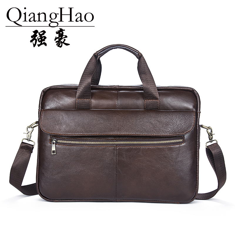100% Genuine leather Men bag Casual men's briefcase shoulder Bags Laptop crossbody messenger bag men  men's travel bags 2017 hot selling men bag 100% genuine leather bags casual men messenger bags crossbody shoulder men travel laptop bag free shipping