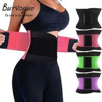 Burvogue Sıcak Şekillendirme Kadın Vücut Şekillendirici Zayıflama Şekillendirici Kemer S-3XL Kuşaklar Firma Kontrol Bel Eğitmen Cincher Artı boyutu Shapewear