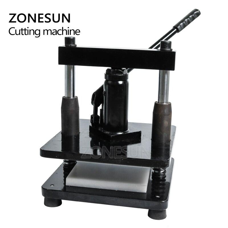 ZONESUN cuir hydraulique manuel machine de découpe papier photo PVC/EVA feuille moule coupe matrice pour bricolage papercraft - 6