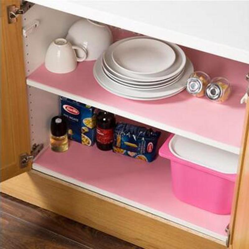 2016new kitchen wardrobe mat drawer kitchen cabinet pad waterproof transparent slip resistant dining table mat antis kitchen furniture