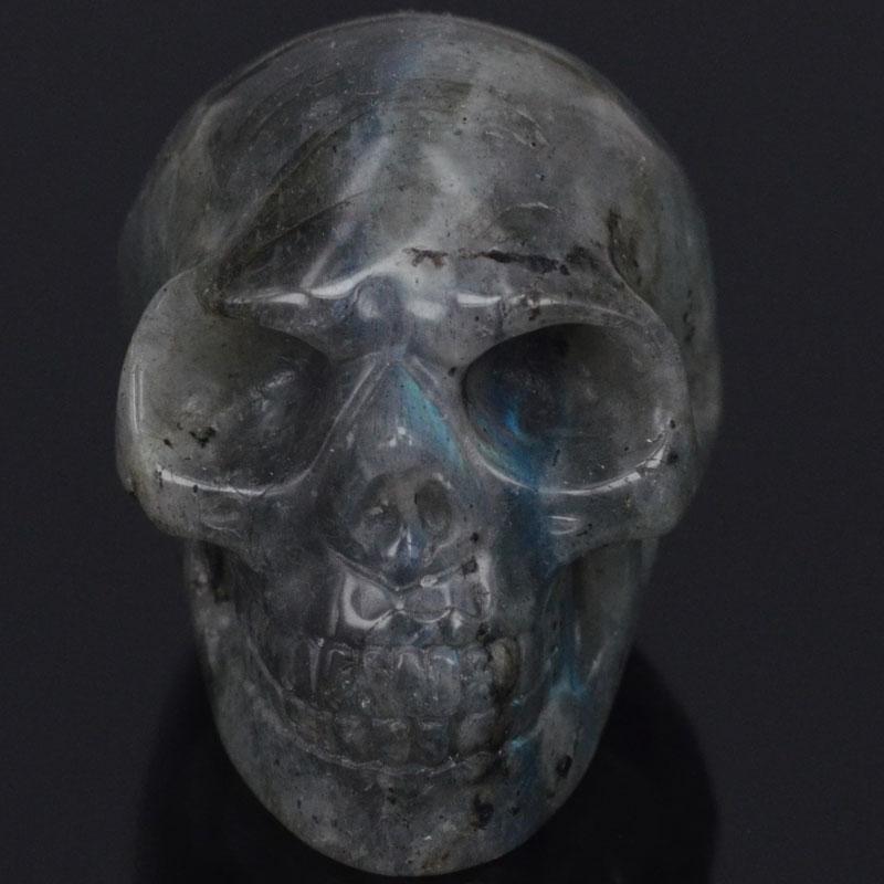 """2 """"přírodní flash labradorit lebka kámen vyřezávané čakry léčení Reiki Feng Shui lebka dekorativní řemesla, minerály"""