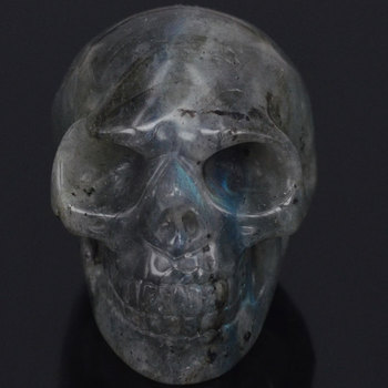 2Natural Flash Labradorite Skull Stone Carved Chakra Healing Reiki Feng Shui Skull Decorative Crafts, Minerals skull figurine natural stone yellow tiger eye crystal carved statue realistic feng shui healing ornament art collectible 2
