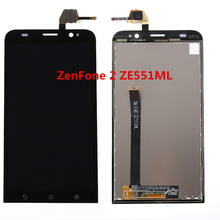 Black Full LCD DIsplay + Touch Screen Digitizer Assembly For Asus Zenfone 2 ZE551ML Z00AD Z00ADB Z00ADA 5.5 inch Free shipping