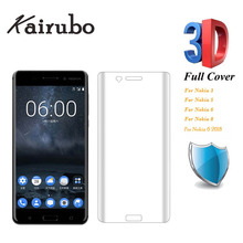 3D Full Cover Tempered Glass For Nokia 8 6 5 3 7P Toughened Protective 2018 6.1 3.1 5.1 Screen Protector Film
