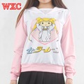 Sailor Moon Women Hoodies Long Sleeve Kawaii Sweatshirts Sudaderas Mujer Japanese Clothes Anime Tops Tee