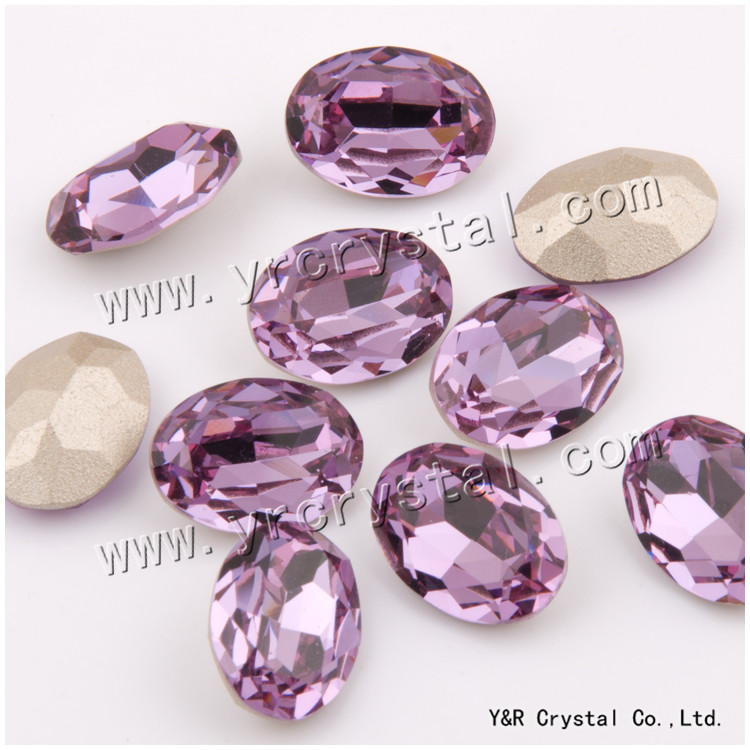 #4120 10*14mm 13*18mm 18*25mm  Oval Fancy Crystal Pointed Back Velvet 3d Nail Art crystal decorations Crystal rhinestones 10 18
