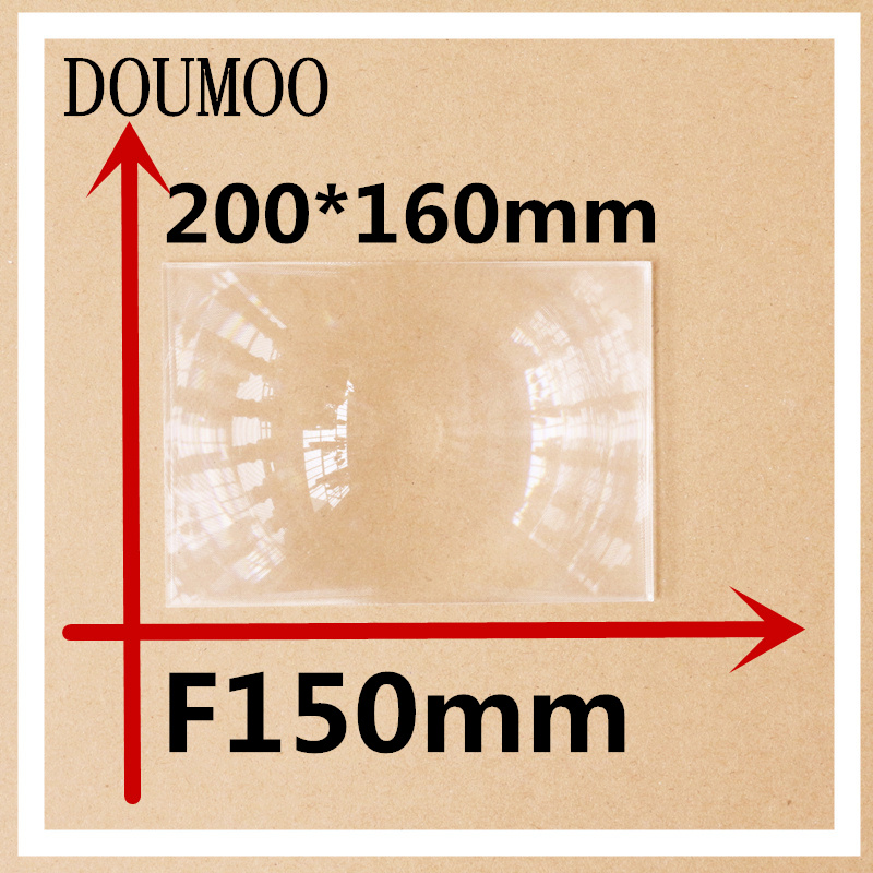 1 PCS/lot 200 x 160 mm Optical PMMA Plastic linear Fresnel Lens Projector Fresnel Lens Plane Magnifier Solar Energy Concentrator doumoo 330 330 mm long focal length 2000 mm fresnel lens for solar energy collection plastic optical fresnel lens pmma material