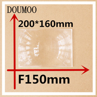 1 PCS/lot 200 x 160 mm Optical PMMA Plastic linear Fresnel Lens Projector Fresnel Lens Plane Magnifier Solar Energy Concentrator