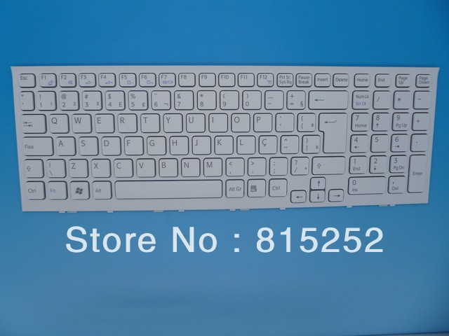 Laptop Keyboard For SONY VPC-EH(White Frame) White BR-Brazil Aehk1600020 V116646f 148971711 laptop keyboard for acer silver without frame bulgaria bu v 121646ck2 bg aezqs100110