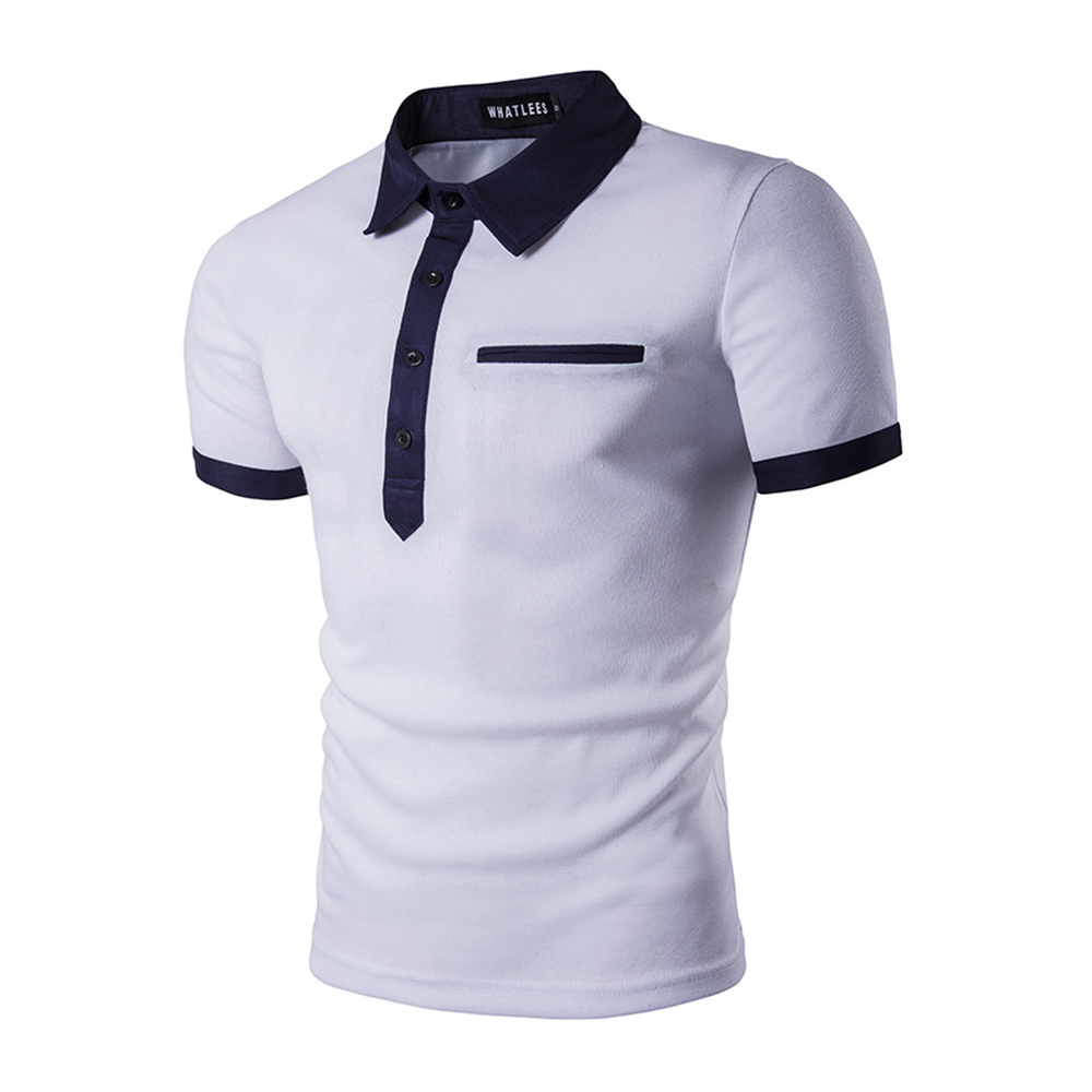 Brand Clothing Summer Men's   Polo   Shirt Fashion Cowboy Stitching Short Sleeve   Polo   Shirt Slim Casual Camisa   Polo   Homme