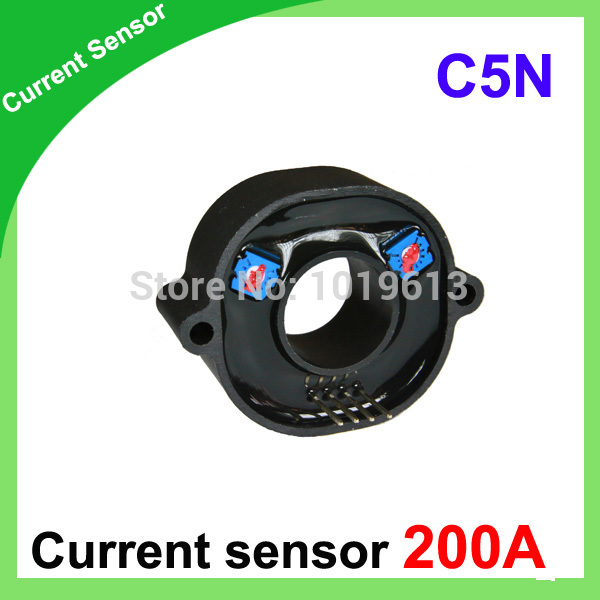 C5N Hall effect High current sensor 200A AC DC current transducer hall current sensor transducer current sensors output 4 20ma 0 5v 0 250a 25mm hole diamter