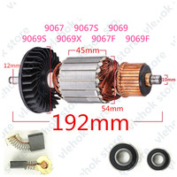 AC220 240V Armature Rotor Replace for MAKITA 9067 9067S 9069 9069S 9069X 9067F 9069F 180 Anchor motor Angle Grinder power tool