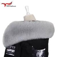 Women Winter Coat Fur Scarves Neck warmth Fox Fur Warm Warmers Real Fox Fur Scarf Jackets Real Fur Collar manteau femme hiver