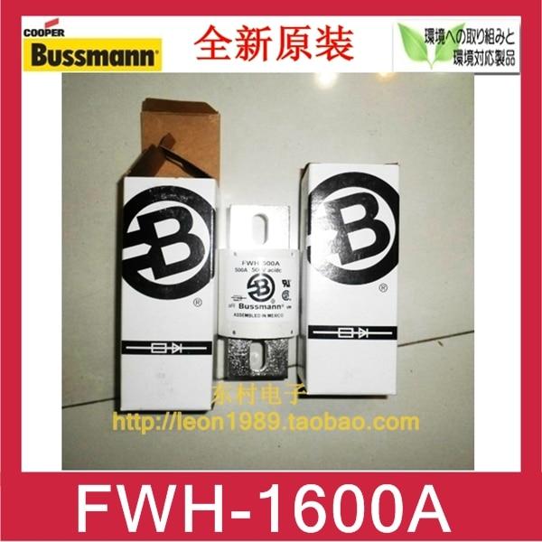 [SA]US Cooper Bussmann fuse ceramic tube FWH-1600A 1600A 500V fuse 500v 120ka 660v 50ka low voltage blade contact ceramic fuse link nt2 400a