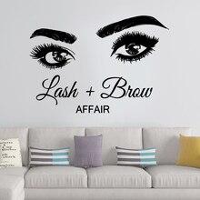 Pretty Lash Brow Self Adhesive Vinyl Waterproof Wall Art Decal Decor Living Room Bedroom Removable Decoration Murals