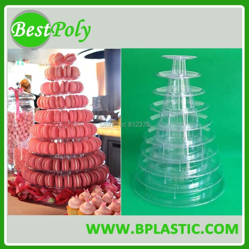 1 conjunto 10 camadas Macaron Display, torre Macaron, prateleira - Cozinha, sala de jantar e bar