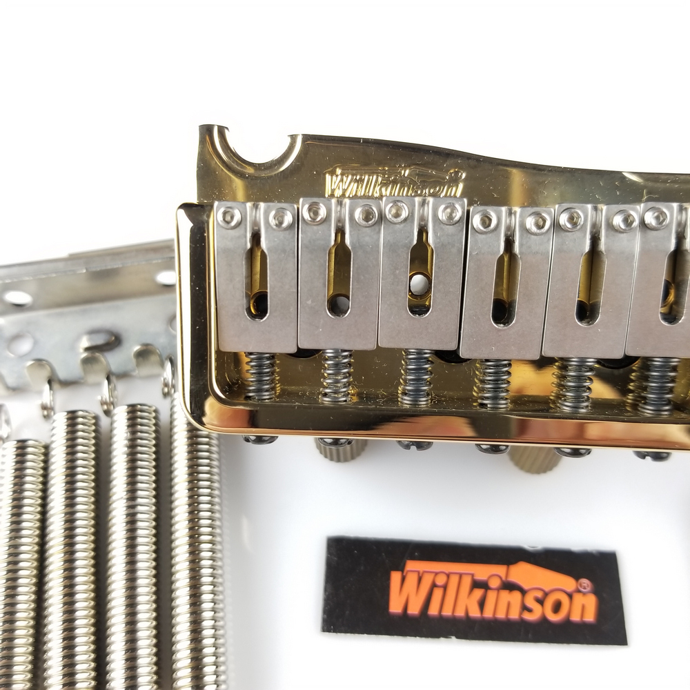 Hot Seller Guitar Parts Wilkinson Wvp Electric Tremolo System Bridge 2 Point Steel Saddle Gold