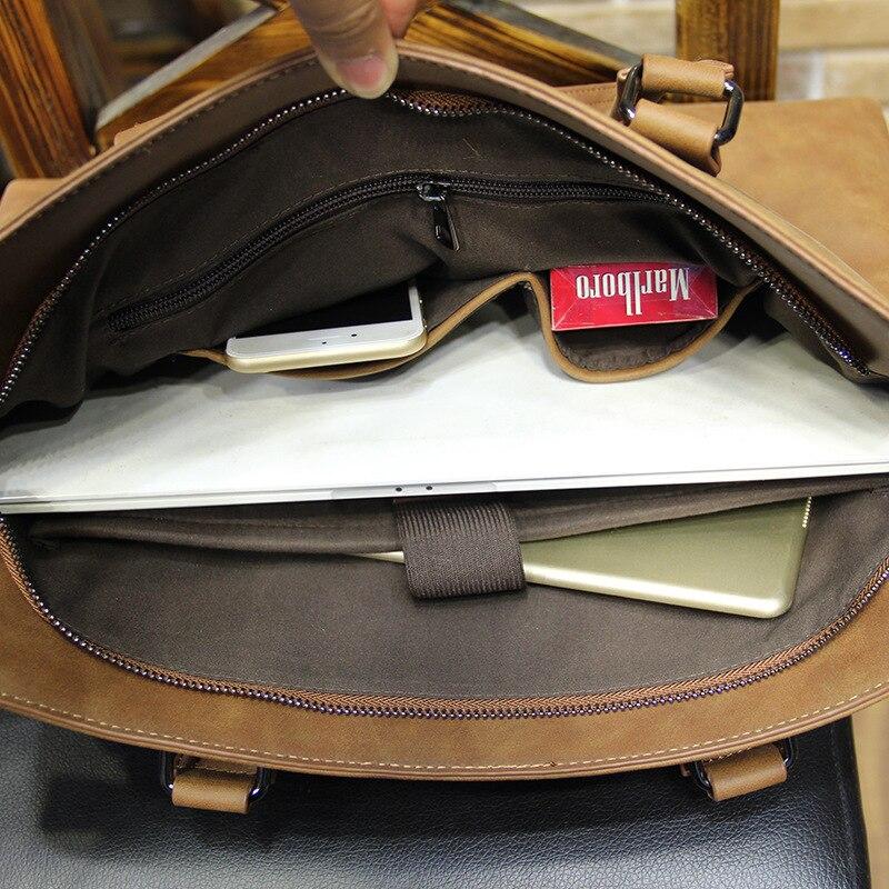 G-FAVOR Famous Brand Business Men Briefcase High Quality Leather Laptop Bag Men Shoulder Bag Messenger Bags Causal Handbag