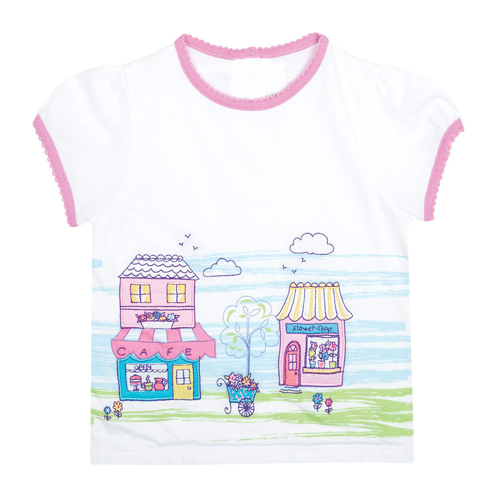 Little Maven New Girls Summer Fashion Stores Printed Short O-neck Brand Cotton Quality Knitted Children Tshirt