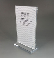 30x42cm A3 Clear Acrylic Sign Display Paper Card Label Holder Vertical T Stands By Magnet Sucked