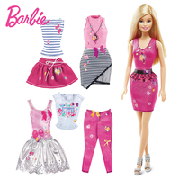 Barbie Doll Set with Colthes Shoes Bag Fashions Dolls For Girl Barbie Accessories Best Birthday Christmas gift toy DKY29