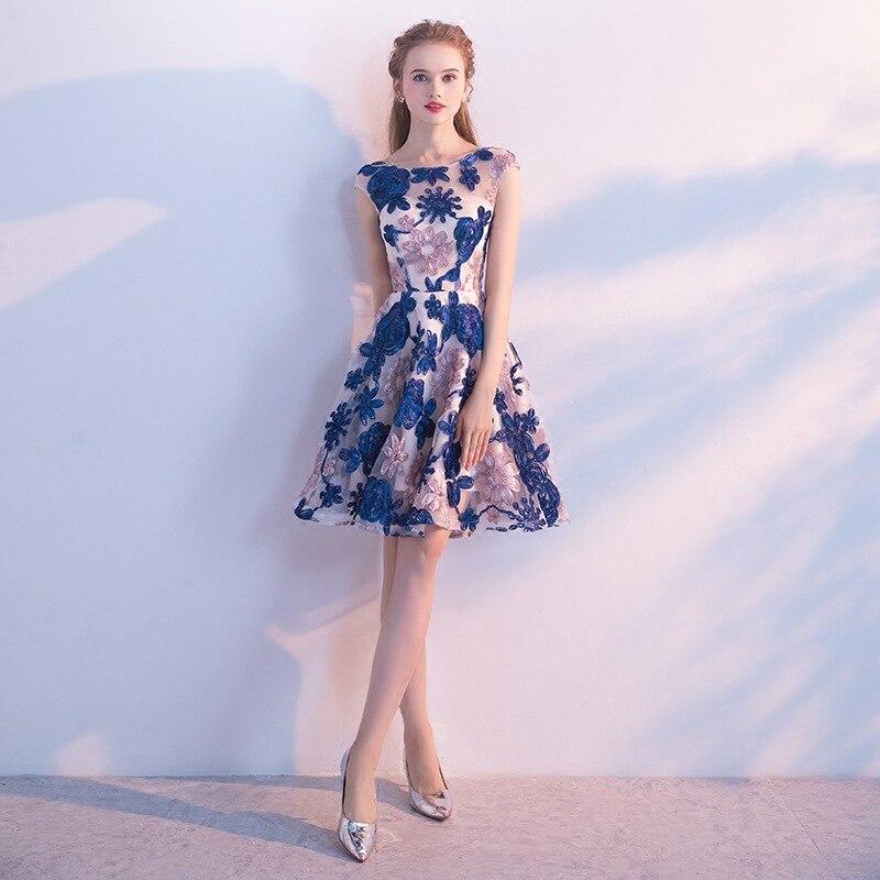Милое Ретро цветочное кружевное мини платье Vestidos de Festa плиссированное платье с цветочным узором кружевное ТРАПЕЦИЕВИДНОЕ коктейльное плат...
