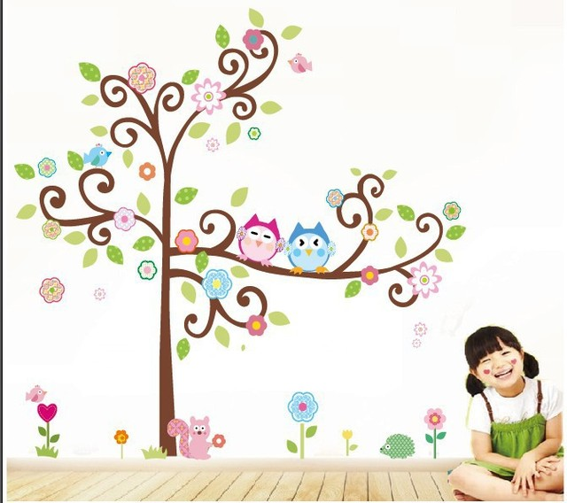 Monkey Tree Wall Stickers for Kids' Bedroom Living Room
