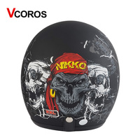 Vintage Motorcycle helmet Jet casco Retro open face helmets for motorcycle scooter pilot vespa Moto helmet VCOROS Brand