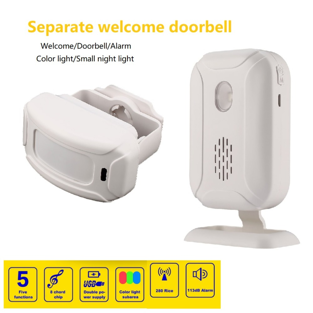 36 Ringtones Wireless Doorbell PIR Shop Store Home Security Welcome Chime Motion Sensor Infrared Detector Entry Doorbell Alarm гель д душа dove детокс мицеллярный 250мл