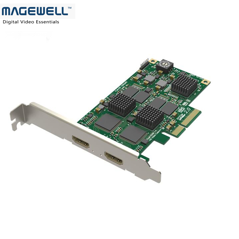 US $499 0 |Hot Selling Magewell Pro Capture Dual HDMI Input HDMI Capture  PCI Express Card Compatible with Windows/Linux/Mac Operating-in Video & TV