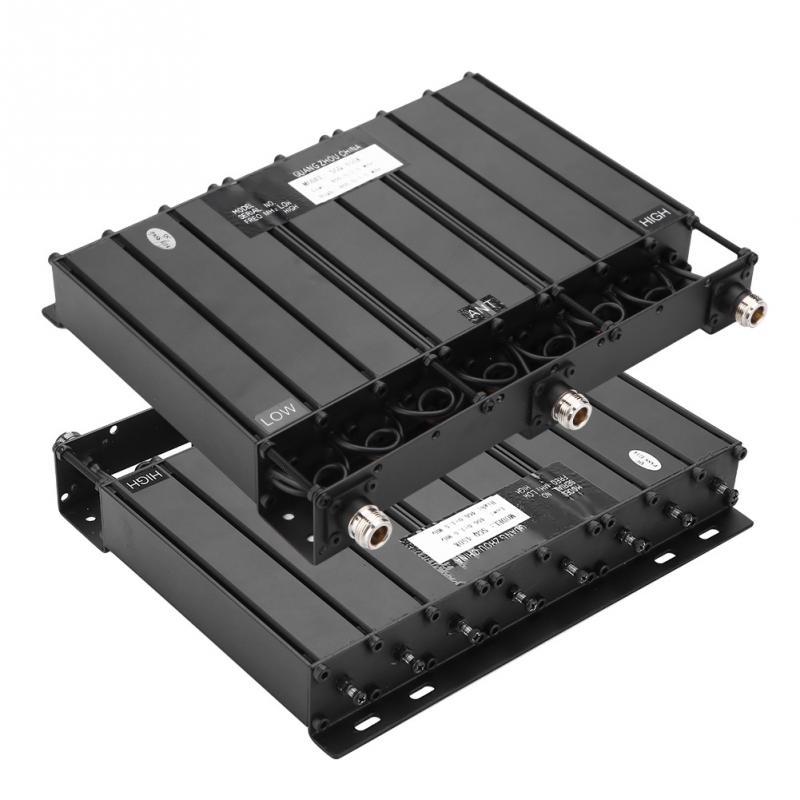 For SGQ 450K 100W UHF 400 520MHz 8 Cavity Duplexer NSMA Connector Black