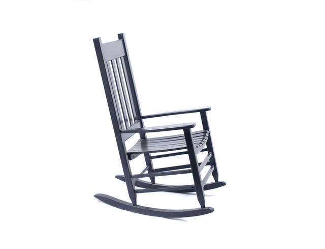 Slat Cadeira De Balanço Varanda Rocker Para Ao Ar Livre/Interior De Balanço Poltrona de Madeira Clássico Jardim Varanda Pátio Adulto Roqueiro Preto/marrom