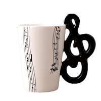 2017 Big Sales Ceramic Music Score Design Cups Mugs With Musical Note Hand Shank Coffee Cups
