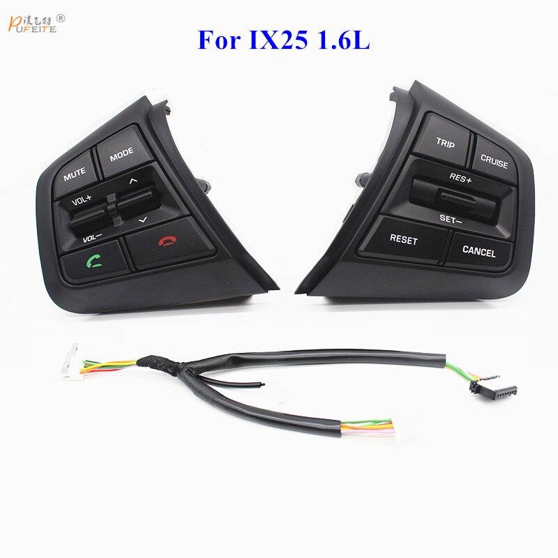 55d10f8a9c Frete grátis Para Hyundai ix25 (creta) 1.6L Volante Botões de Controle De Cruzeiro  Interruptor De Volume de Controle Remoto acessórios do carro