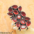 New Summer Trending 925 Sterling Silver Red Garnet Women Fashion Party Ring Sz.8 GM1891 FREE SHIPPING