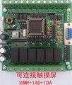 Mitsubishi plc placa de control industrial de 51 solo microordenador chip de control fx1n fx2n ad da 16mr control programable