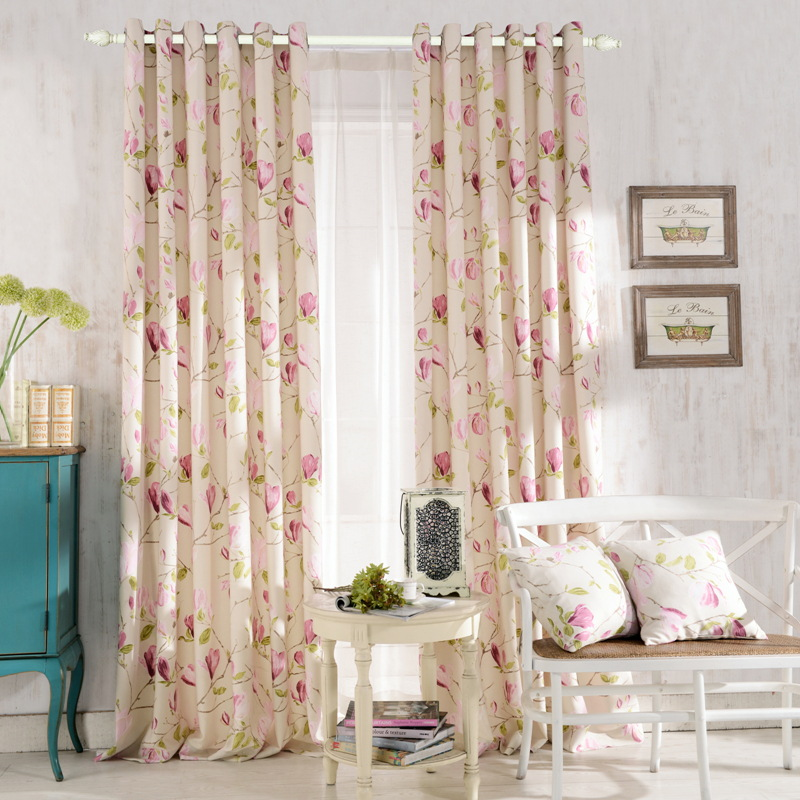 The New High End Custom Rustic Calico Soundproof Sided Light Curtains(China  (Mainland