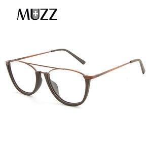 Image 2 - MUZZ деревянная оправа для очков, унисекс, полуоправа для деревянных дужек, без оправы, ацетатная оправа, мужские очки