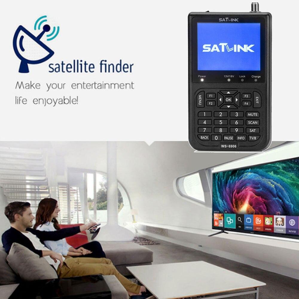 SATXTREM Satlink WS-6906 satellite finder 3.5 DVB-S FTA 6906 digital satellite meter ws 6906 satlink With Li-on Baterry