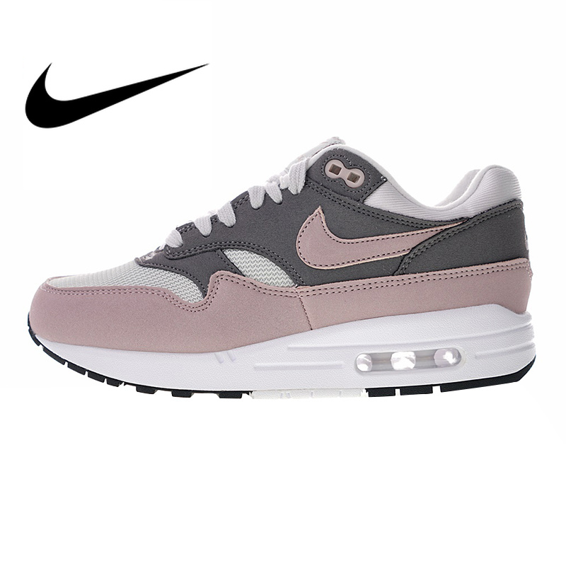 f9c55cfe Оригинальные Nike Оригинальные кроссовки Air Max 1 женские кроссовки  розовый красный АМОРТИЗИРУЮЩИЕ НЕСКОЛЬЗЯЩИЕ износостойкая дышащая одежда