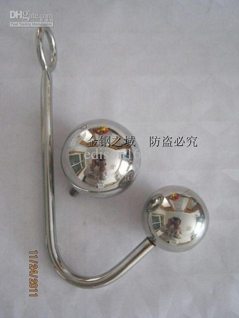 Wholesale - Newest stainless steel anal hook/anal plug toys/male chastity/chastity devices/Sex toys