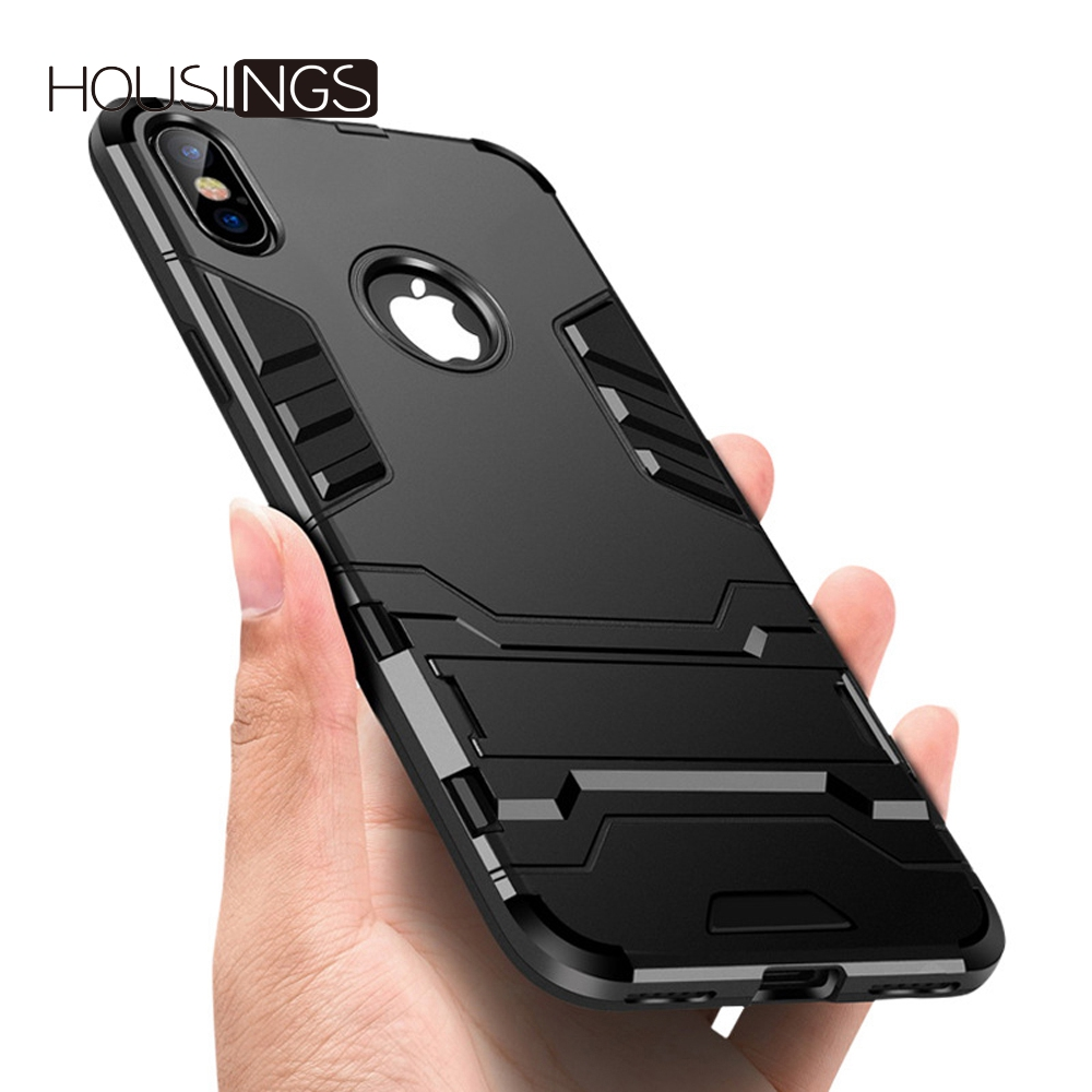 Housings Shockproof Case For iPhone 7 8 Plus X Military Luxury TPU Protective Hard iphone 6 6s 5 5s SE Coque Cover