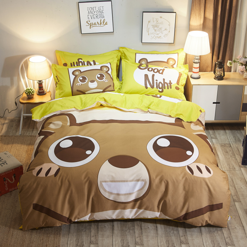 3/4pcs 100%Cotton 15 styles cute cartoon Bedding set for kids girls boys Duvet Cover set Bedsheet Pillowcases Twin Queen Size3/4pcs 100%Cotton 15 styles cute cartoon Bedding set for kids girls boys Duvet Cover set Bedsheet Pillowcases Twin Queen Size