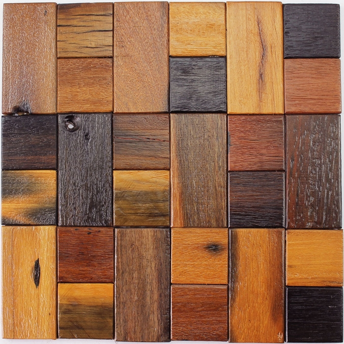 12x12  natural Rustic wood mosaic tile  wood kitchen backsplash  square   wood panel. Compare Prices on Rustic Kitchen Tiles  Online Shopping Buy Low