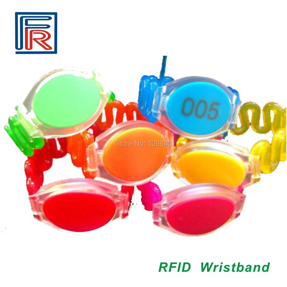 100pcs best-selling sauna rfid wristband Resort waterproof bracelet Hotel member card 125khz