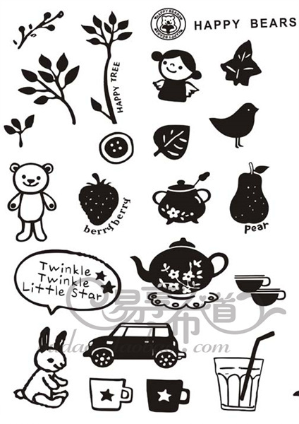 Rabbit Flocking Iron-on Transfers For Clothes Heat Transfer Press Patches Stickers Drop Shipping Wholesale no 804676047